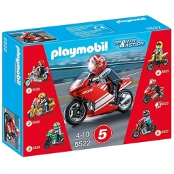 Playmobil Superbike - Moto de Course Rouge - Réf 5522