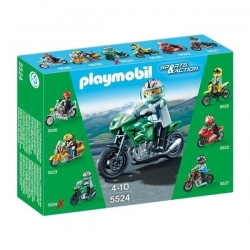 Playmobil - Sports Bike - Moto de Course Verte - Réf 5524