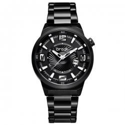 BREAK WATCH BLACK-MONTRE AVEC BRACELET EN ACIER