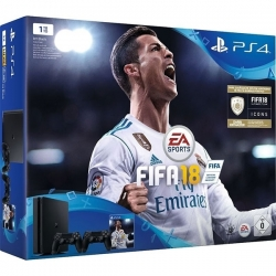 Playstation 4 Slim (1Tera) + FIFA 18 + 2 Manettes