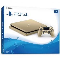 Playstation 4 Slim Gold (1 Tera) - 1 Manette