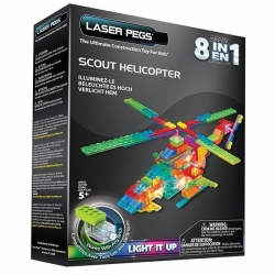 Laser Pegs - Blocs de construction - 8 en 1 - Scout Helicopter