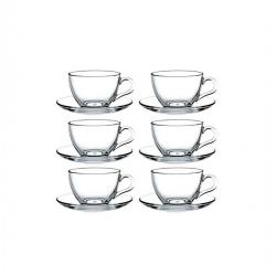 Lot de 6 Tasses à Cafe & The - Transparent