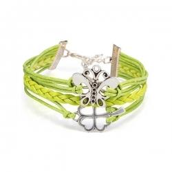 Bracelet Vert Infinity Charm - Avec papillon