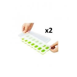 2 Moules à Glace, Bac De Glaçons - vert