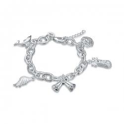 Bracelet Romantique Vintage - plaqué Argent