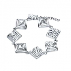 "Bracelet fashion a motif losange collection "" Alysta "" - plaqué Argent"