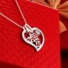Lady Colour Love Collier avec pendentif coeur cristaux
