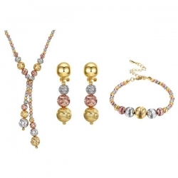 "coffret collier , boucles d'oreilles et bracelet collection "" Perle Graine """