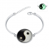 "Bracelet Collection "" Ying Yang Lumineux """