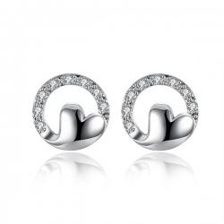 """Boucles d'oreilles collection """" coeur d'amour """" - Plaqué Argent"""