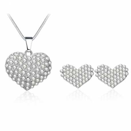 "Collier et boucles d'oreilles collection "" Sweet Heart """