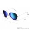 """Lunettes style """"Boss"""" verres miroir - Teinte Vert Bleu"""