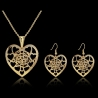 """boucles d'oreilles et collier collection """" Coeur d'or """""""