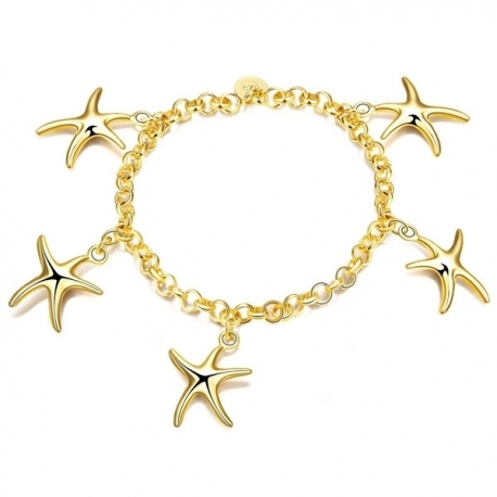 "Bracelet collection "" Gold Star 925 "" - plaqué Or"