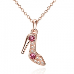 """Collier Collection """" Fashion Shoes """" - Plaqué Or Rose"""
