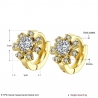"Boucles d'oreilles collection "" Gold Star "" - Plaqué Or et Zirconium"