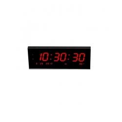 Horloge murale numérique LED - calendrier avec 8 alarmes pour le bureau
