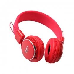 Casque bluetooth TM-001 FM STEREO RADIO et MP3 PLAYER - Rouge