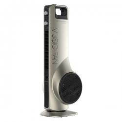 Binatone Ventilateur Tower Fan Music 5000 avec Télécommande- USB et Bluetooth pour jouer la musique